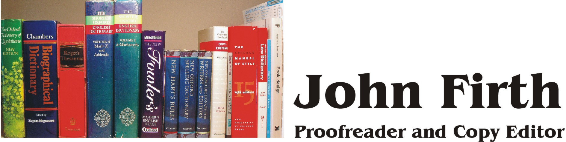 John Firth Proofreader & Copy Editor